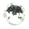 Cabouchons Acrylic 13mm Round Facet Crystal